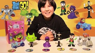 getlinkyoutube.com-All 2017 TEEN TITANS GO Happy Meal McDonalds Boys Toys & McPlay Games Review by Lucas World