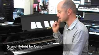 getlinkyoutube.com-Grand Hybrid  gp-500bp vs gp-300bk Celviano Casio Digital Piano review