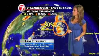 getlinkyoutube.com-WSVN Weather Julie Durda hot Blue Dress 7/20/11