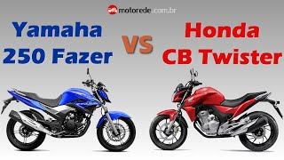 Comparação nova CB Twister 250 vs Fazer 250 2016