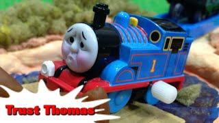 """getlinkyoutube.com-トーマス プラレール ガチャガチャ しんじられるきかんしゃ Tomy Plarail Thomas """"Trust Thomas"""""""