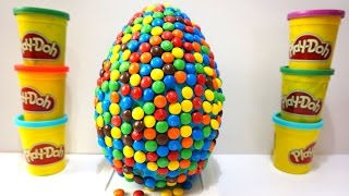 getlinkyoutube.com-Rainbow Surprise Eggs Giant Candy with Minnie Learn and Fun