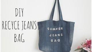getlinkyoutube.com-Recycled Jeans Bags