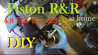 getlinkyoutube.com-LSx How To Replace Pistons on Rod at Home DIY - 4.8 Flat Tops in a 5.3 - LS1
