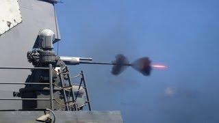 getlinkyoutube.com-BAE Systems - Mk 38 Mod 2 25mm Machine Gun System (MGS) [1080p]