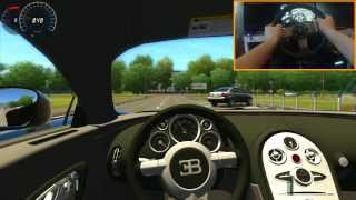 getlinkyoutube.com-Bugatti Veyron 421 Km/h Epic Flying Crash City Car Driving
