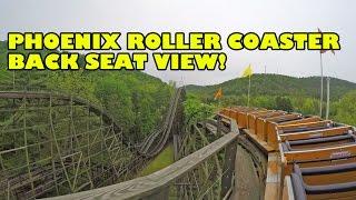 getlinkyoutube.com-Phoenix Top Ten Wooden Roller Coaster! Back Seat POV Knoebels