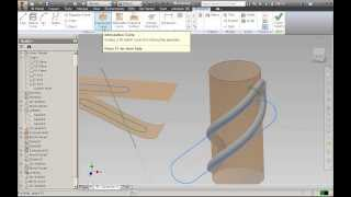 getlinkyoutube.com-Autodesk Inventor 2014 DVD판매 ::: 22강 Intersection, Shilhouette, Project Curve을 이용한 3D Curve생성