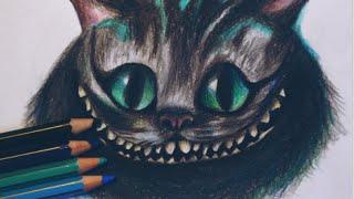 getlinkyoutube.com-Dibujando a Cheshire Cat con lápices de colores (Alice in Wonderland) - AILIPS