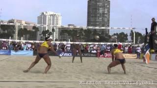 getlinkyoutube.com-2014 WSOBV Long Beach USA vs ESP Womens Quarter Final Fendrick/Sweat vs Fernandez/Baquerizo