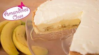 getlinkyoutube.com-Banana Cream Pie | zarter Mürbeteig gefüllt mit Bananen, Vanillecreme & Sahne