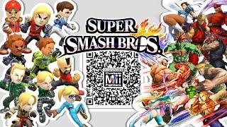 Ken chun li m bison and more mii fighter qr codes for smash bros