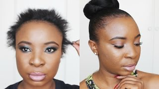 getlinkyoutube.com-Sleek Bun on Short Hair