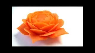 getlinkyoutube.com-人参の飾り切り 花の作り方 野菜でカービング  Art of vegetable Carrot carving Flower Garnish