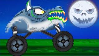 getlinkyoutube.com-Scary Monster Truck | Monster Truck Stunts