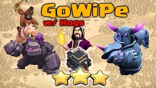 getlinkyoutube.com-Clash of Clans - GoWiPe with Hog Riders TH9 Strategy for 3 Stars | TH9 War Attack Strategy