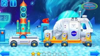 getlinkyoutube.com-Луноход на луне. Космонавты высадились на луну. Знакомство с инопланетянами. Космонавты для детей.