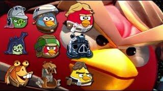getlinkyoutube.com-Angry Birds StarWars II Telepods Zam Wessel Jedi Youngling Endor Jar Jar Bink Droideka