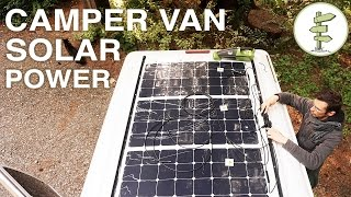 getlinkyoutube.com-Van Life - Our Amazing Stealth Solar Power Set up!  Off Grid Camper Van