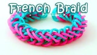 getlinkyoutube.com-Rainbow Loom French Braid Bracelet Tutorial - How To Make A Loom Band French Braid Bracelet