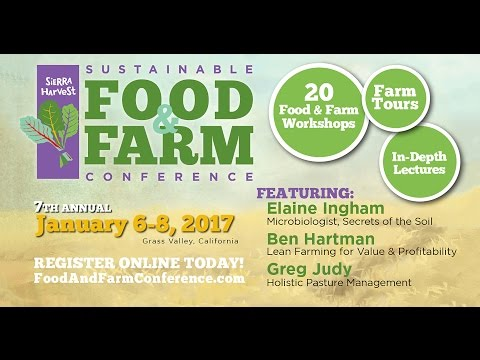 2017 Sustainable Food And Farm Conference