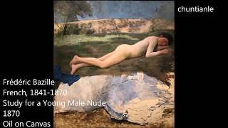 Famous Painting: Frédéric Bazille - Study for a Young Male Nude