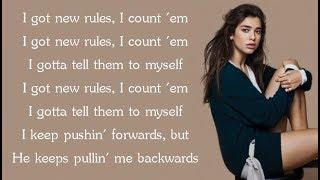 Dua Lipa - NEW RULES (Lyrics) width=