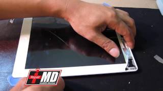 getlinkyoutube.com-iPad 2, 3 & 4 glass and digitizer repair with a rip cord for future fix