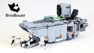 getlinkyoutube.com-Lego Star Wars 75103 First Order Transporter - Lego Speed Build