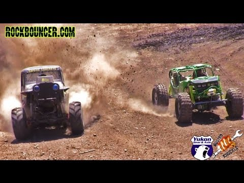 MEGA TRUCK VS  ROCK BOUNCER HILL CLIMB