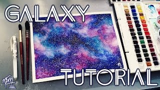 getlinkyoutube.com-How To Paint A Watercolour Galaxy | Tutorial
