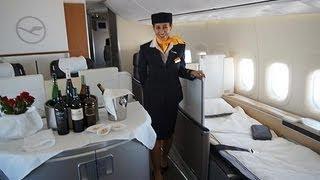 """getlinkyoutube.com-Lufthansa Boeing 747-8 """"Brandenburg"""" - Erstflug München Düsseldorf 21.11.2012"""