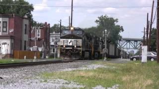 getlinkyoutube.com-HD: Rare Daylight NS 506 Coal Train in SJ