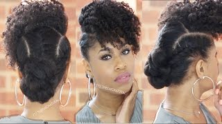 getlinkyoutube.com-BOSS BANG 'N TWISTED KNOT | Natural Hairstyle