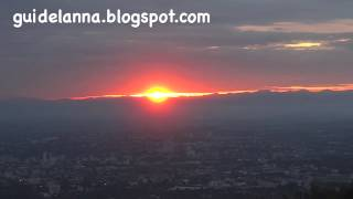 getlinkyoutube.com-พระอาทิตย์ขึ้น ดอยสุเทพ จุดชมวิวทางไปดอยสุเทพ Sun rise at Doi Suthep,Chiangmai Province Thailand