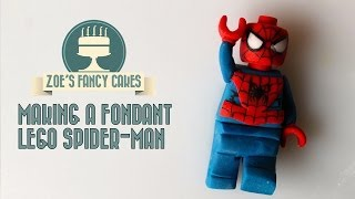 getlinkyoutube.com-Making a fondant lego spider-man How To Tutorial Zoes Fancy Cakes
