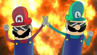 getlinkyoutube.com-Mario and Luigi: Bro Pros  (Super Mario Parody)
