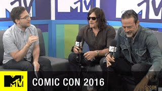 getlinkyoutube.com-Norman Reedus & Jeffrey Dean Morgan Have Comic Con Traditions | Comic Con 2016 | MTV