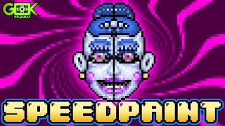 ► BALLORA - FNAF Sister Location - SPEEDPAINT - Pixel art Animation