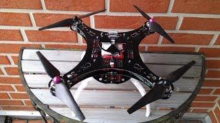 getlinkyoutube.com-Cheerson CX-20 GFK Frame Upgrade - Flugtest