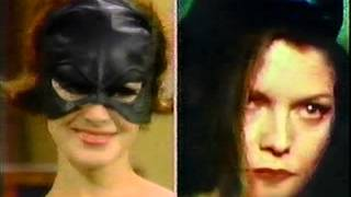 SEAN YOUNG ON JOAN RIVERS SHOW AS CATWOMAN 1991 BATMAN