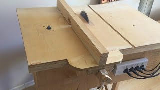 getlinkyoutube.com-Building 4 in 1 Workshop (Homemade table saw, router table, disc sander, jigsaw table)