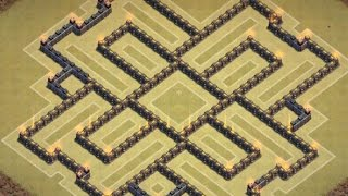 Clash Of Clans - Epic TH 9 Farming Base - 2 air sweeper
