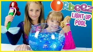 getlinkyoutube.com-ORBEEZ ARIEL'S LIGHT UP POOL WITH GIANT ORBEEZ, TREASURE & AURORA! HOW TO MAKE IT! PLP TV