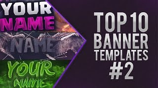 getlinkyoutube.com-TOP 10 FREE BANNER TEMPLATE #2 | Photoshop + Downloads