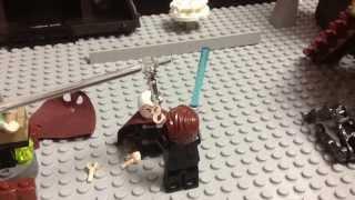 getlinkyoutube.com-Lego Star Wars Count Dooku vs Anakin and Obi-Wan Scene.
