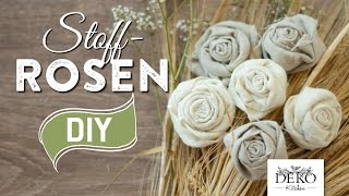 getlinkyoutube.com-DIY: Deko-Rosen aus Stoff im Shabby Chic Stil | Deko Kitchen