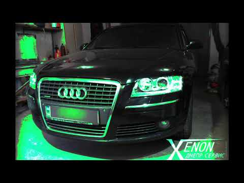 Audi A8 D3 полная реставрация фар Замена линз Полировка фар Бронирование фар