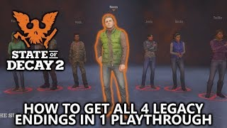 State of Decay 2 - How to Get All 4 Legacy Endings in 1 Playthrough by Deleting your Saved Data