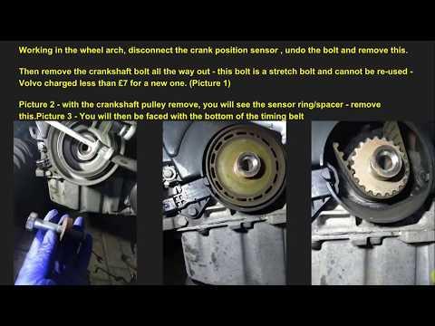 Volvo V50 2.0D cambelt & tensioner change